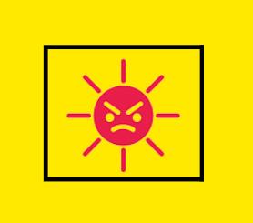 Soleil pas content